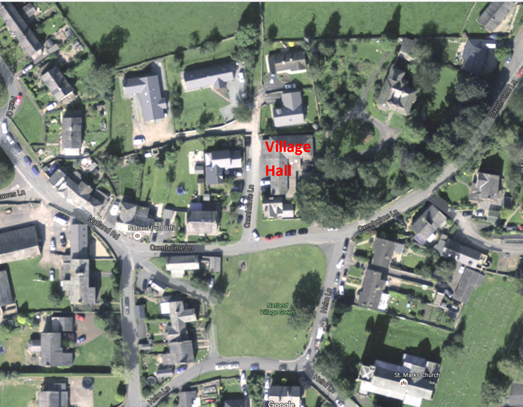 village hall satellite view